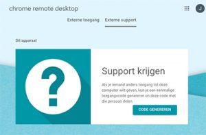 Chrome Remote Support